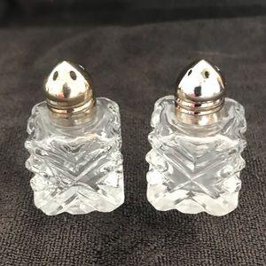 Mini crystal salt and pepper shakers
